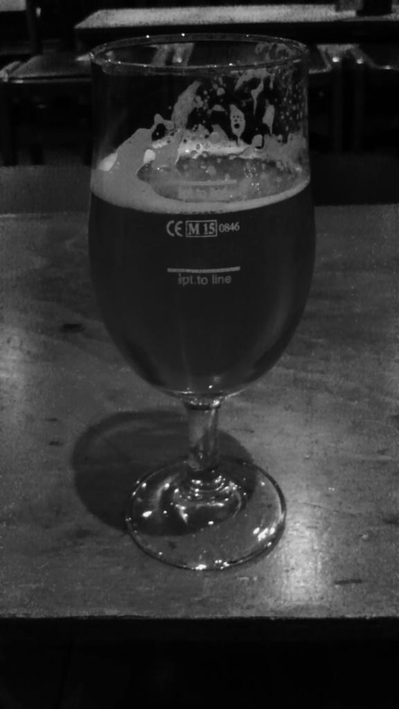 Half a scoop of Quantum Pale Ale